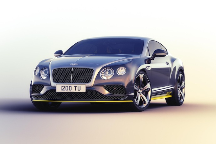Seven limited edition Bentley Continental GT Speeds inspired by famed jets