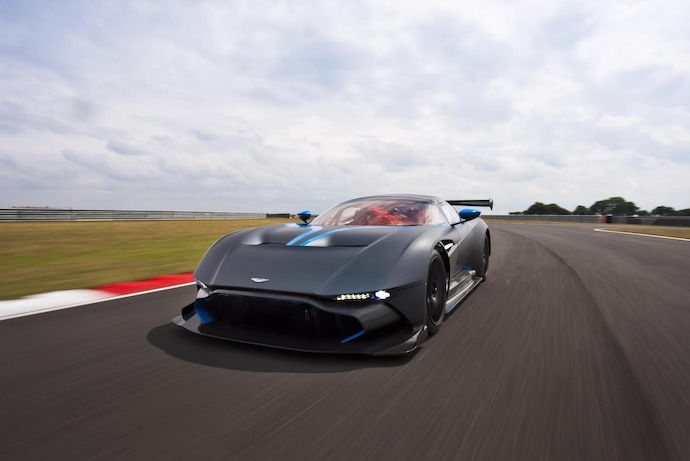 Aston Martin Vulcan runs at Spa 24 Hours