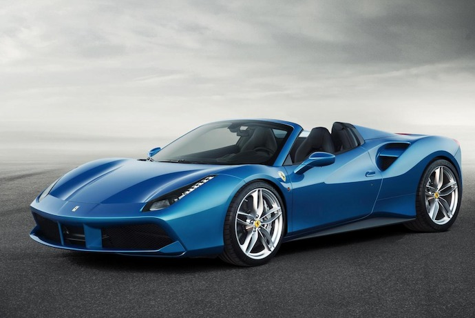 The Ferrari 488 Spider:  Official unveiling scheduled for Frankfurt Motor Show