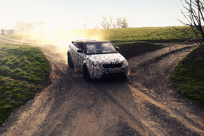 All-New Range Rover Evoque Convertible Passes through Ultimate All-Terrain Testing