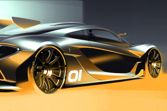 The McLaren P1 GTR design concept previewed ahead of Pebble Beach global debut