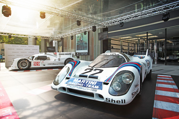 Porsche displays historic 917K at ION Orchard