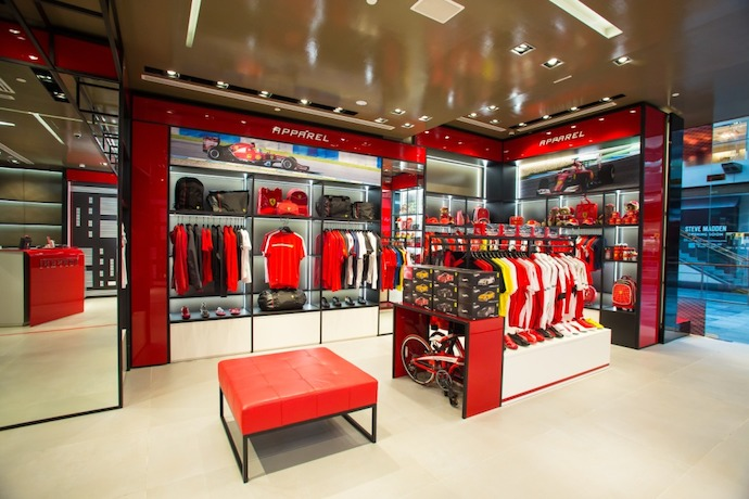 Ferrari Store Opens at Marina Bay Sands Singapore