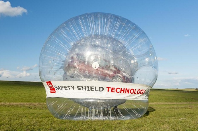 Nissan Creates World's Biggest Zorb  With A Car Inside