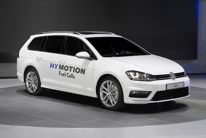 Introducing: Volkswagen Golf SportWagen HyMotion with hydrogen fuel cell