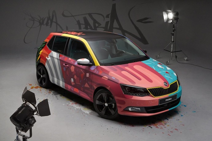 Skoda Fabia made into an 'Art Car'