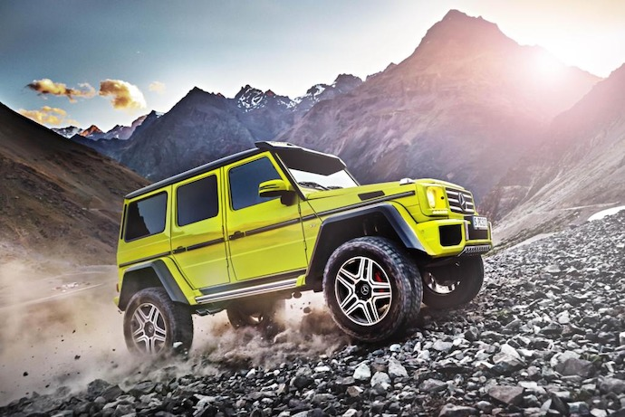 The Mercedes Benz G-Class show car G 500 4x4 Squared