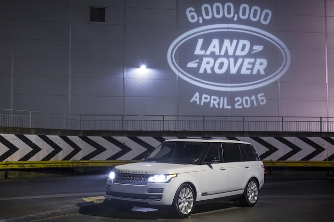 Six millionth production Land Rover is a luxurious Range Rover LWB Vogue SE