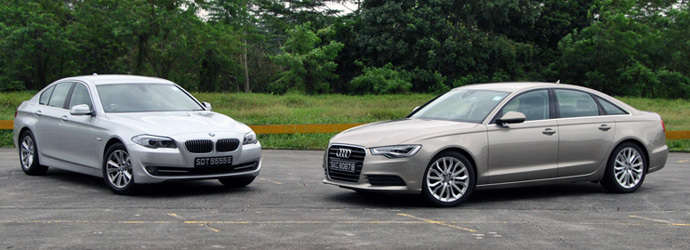 Twin test: Audi A6 2.0 TFSI (A) vs. BMW 520i (A) Review