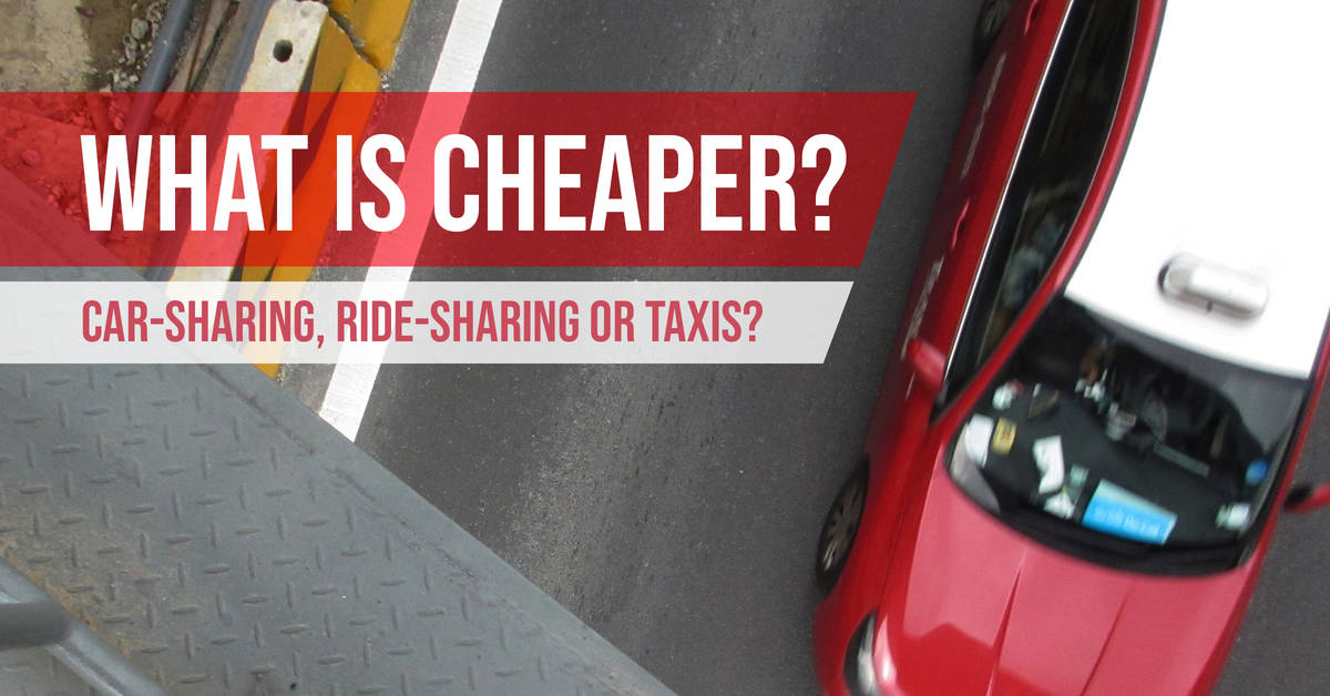 What is Cheaper - Car-sharing, Ride-sharing or Taxis - Singapore