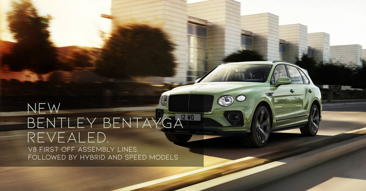 New Bentley Bentayga Revealed. V8 To Roll Off Assembly ...
