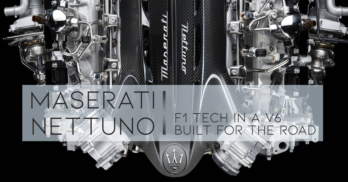 Maserati Nettuno. F1 Tech In a V6 Built For The Road