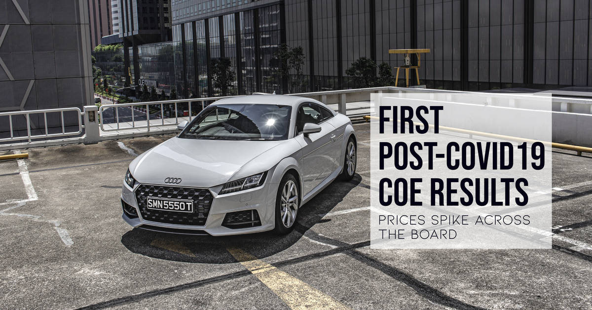 First Post-COVID19 COE Results - Prices Spike Across The ...