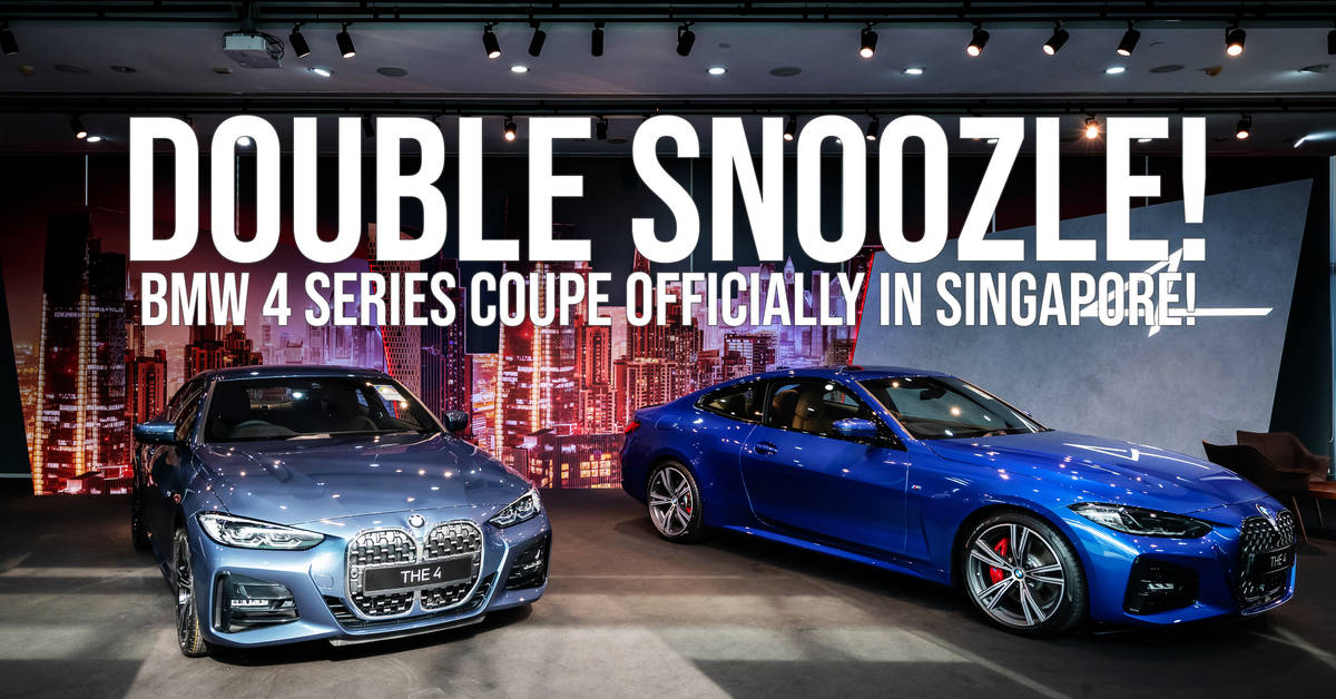 Double Snoozle! BMW 4 Series Coupe Officially In Singapore!