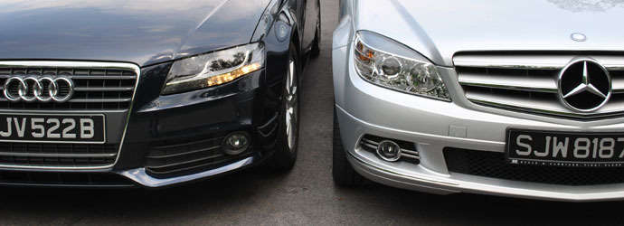 Twin test: Audi A4 1.8 TFSI (A) vs. Mercedes-Benz C180 CGI BlueEFFICIENCY  (A) Review