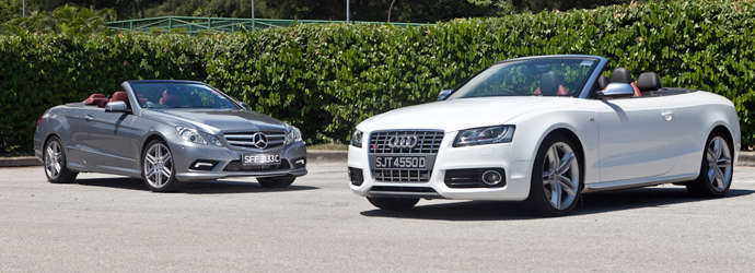 Twin test: Audi S5 Cabriolet 3.0 TFSI quattro (A) vs. Mercedes-Benz E350 Cabriolet (A) Review