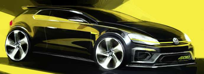 First Sketches of Volkswagen's 400Ps Four Wheel-Drive Golf ...