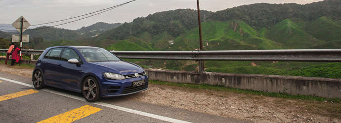 Road trip in the Volkswagen Golf R