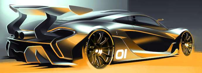 The McLaren P1 GTR design concept previewed ahead of Pebble ...