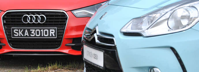 Head-to-head: Audi A1 1.4 TFSI 122 (A) vs. Citroen DS3 1.6 VTi (A) Review