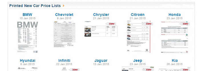 Car pricelists at your fingertips!
