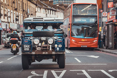 The Last Overland Expedition Reaches The Finish Line In London And Is Greeted By A Unique New Defender To Celebrate Their Achievements