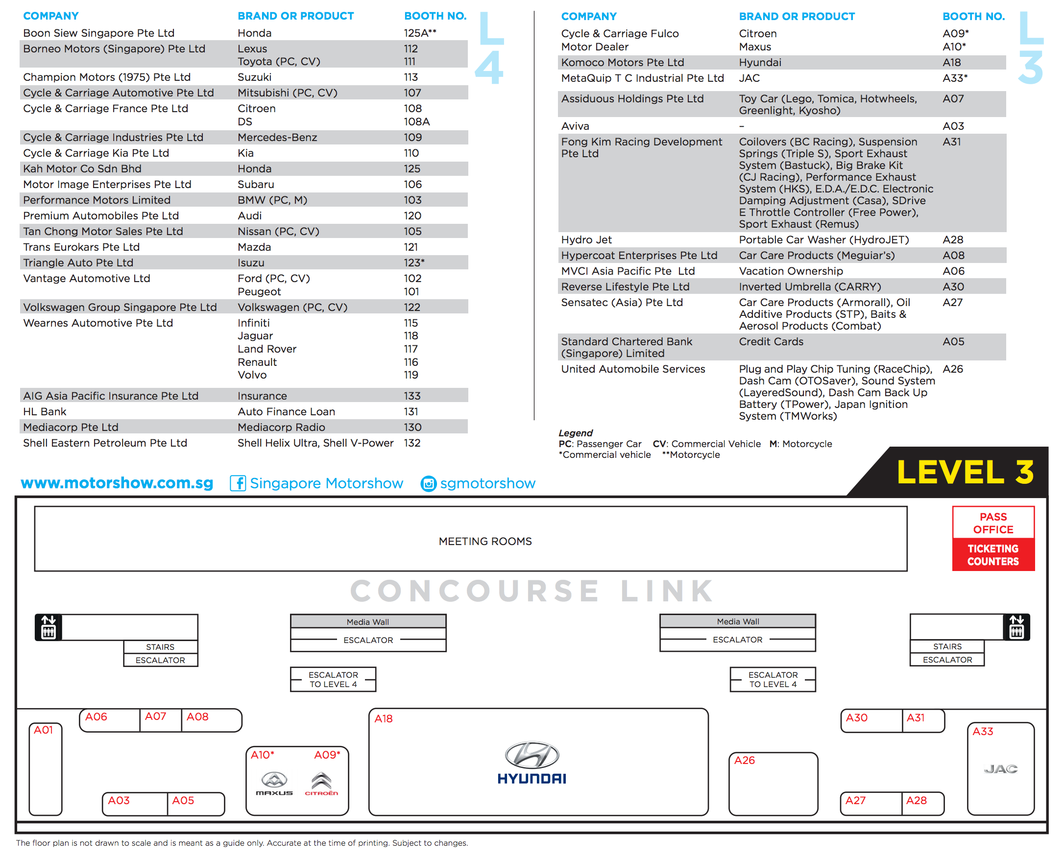 Singapore Motorshow 2017 Floor Plan