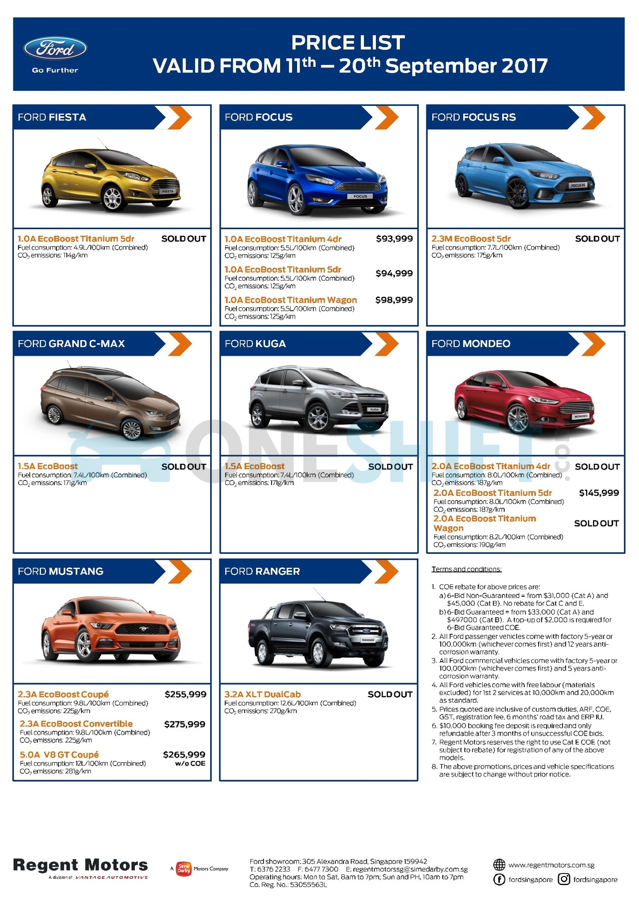 ford Price List 9-11-2017 Page 1