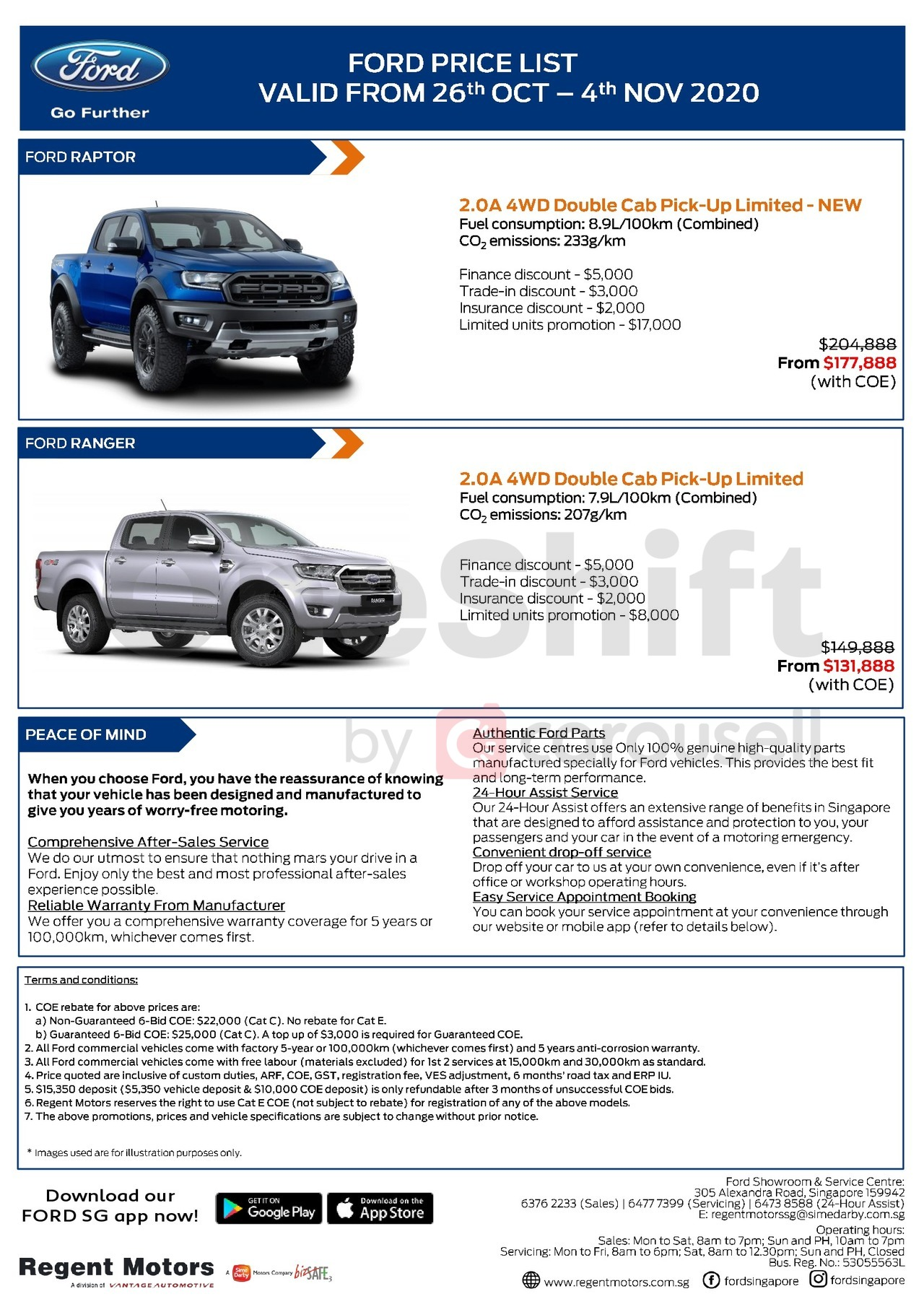 ford Price List 10-26-2020 Page 1