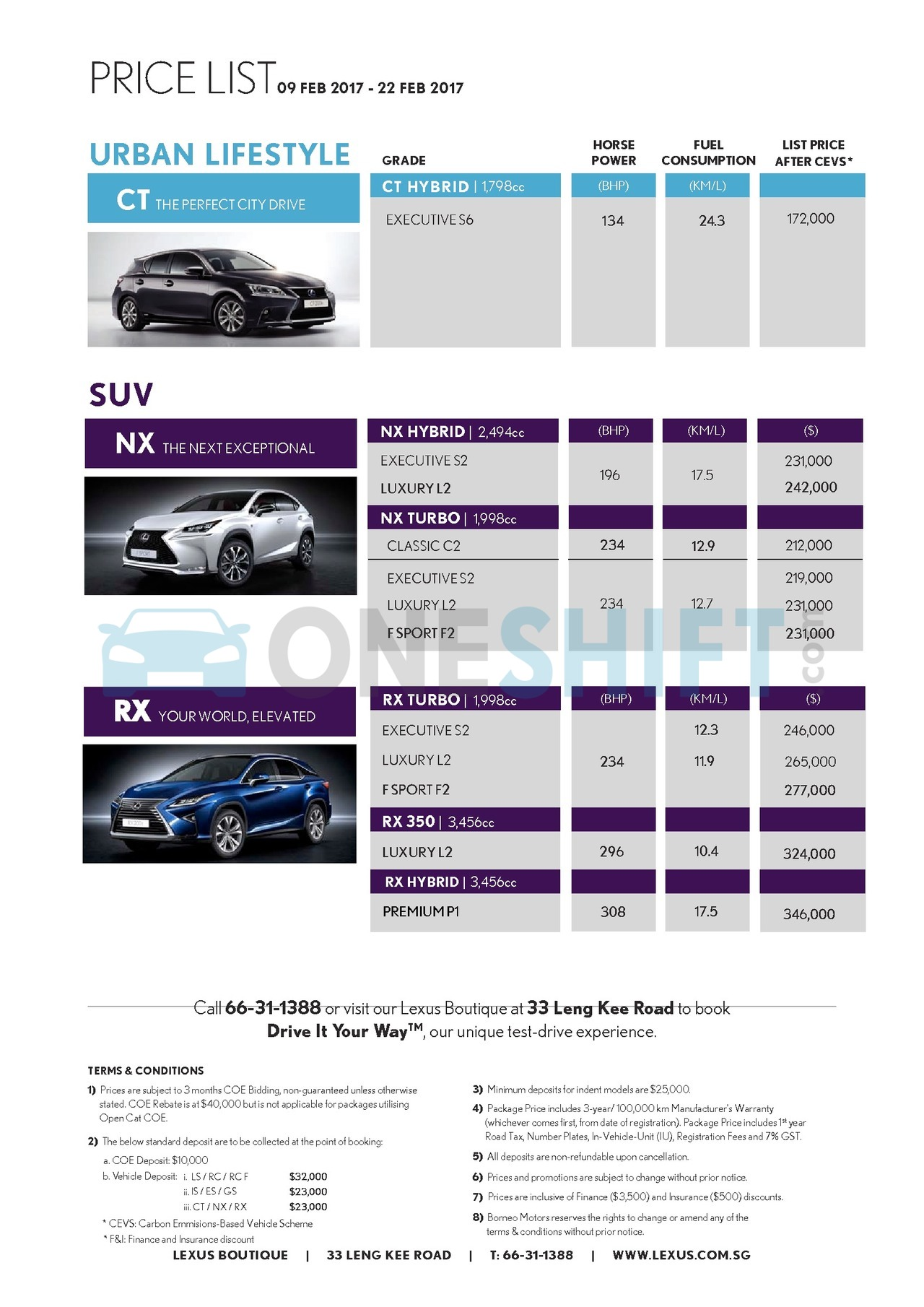 lexus Price List 2-9-2017 Page 2
