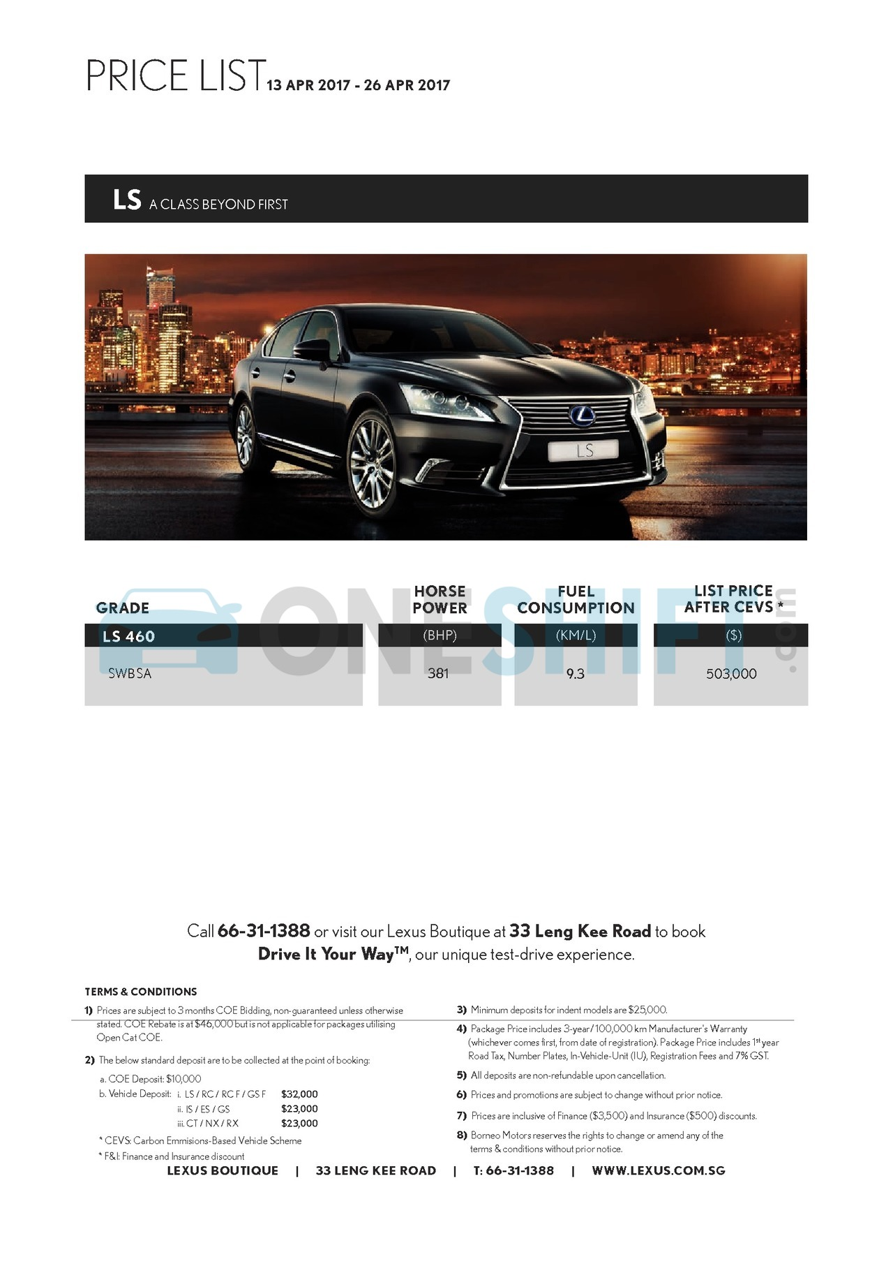 lexus Price List 4-13-2017 Page 3