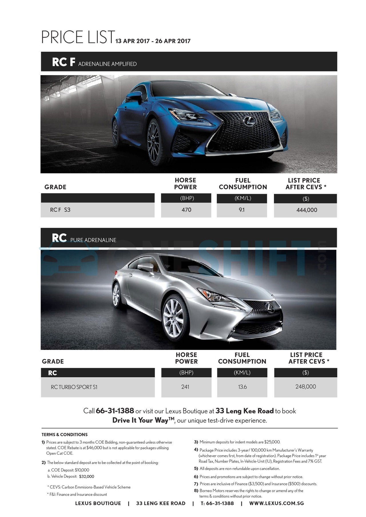 lexus Price List 4-13-2017 Page 4