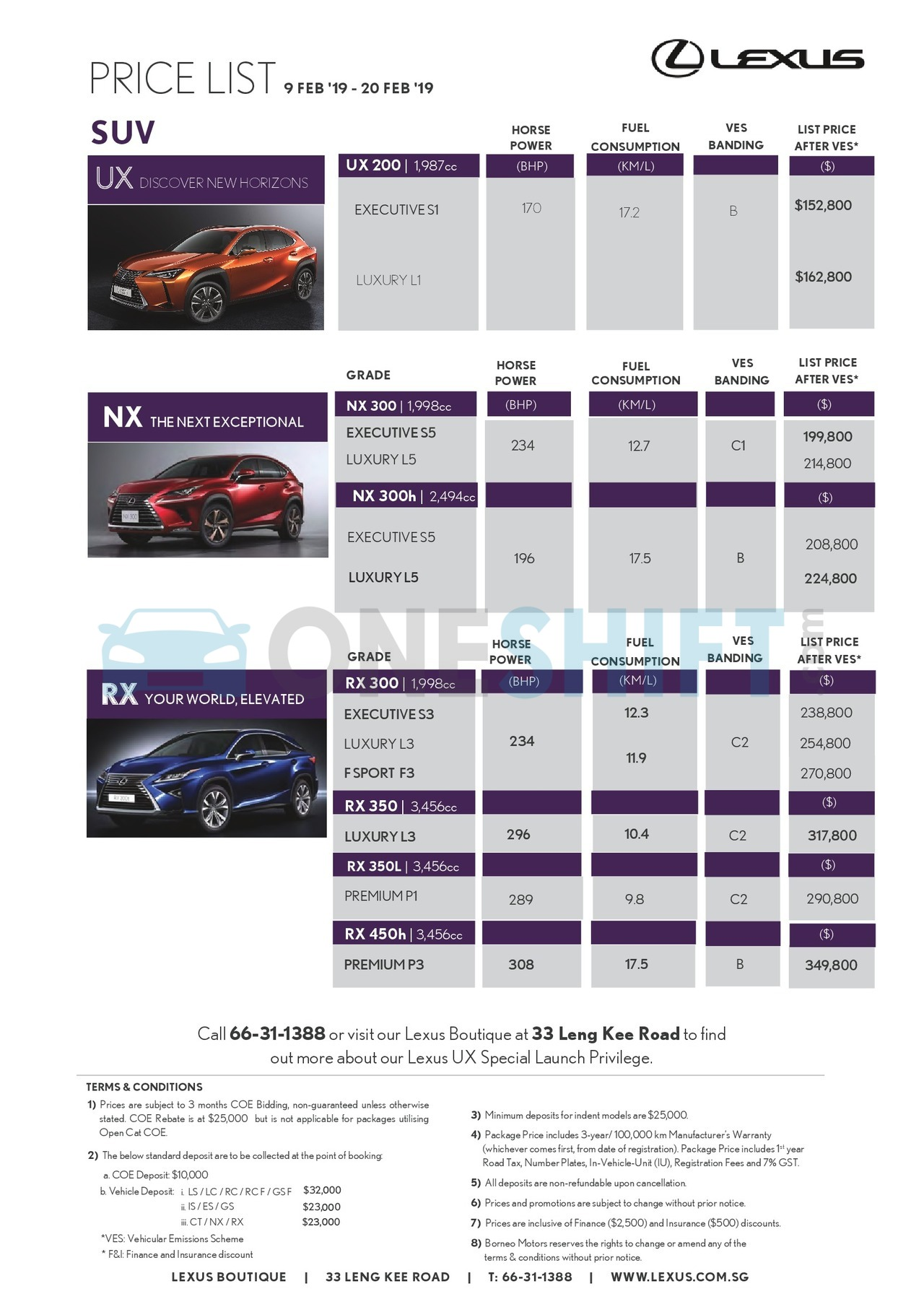 lexus Price List 2-11-2019 Page 2