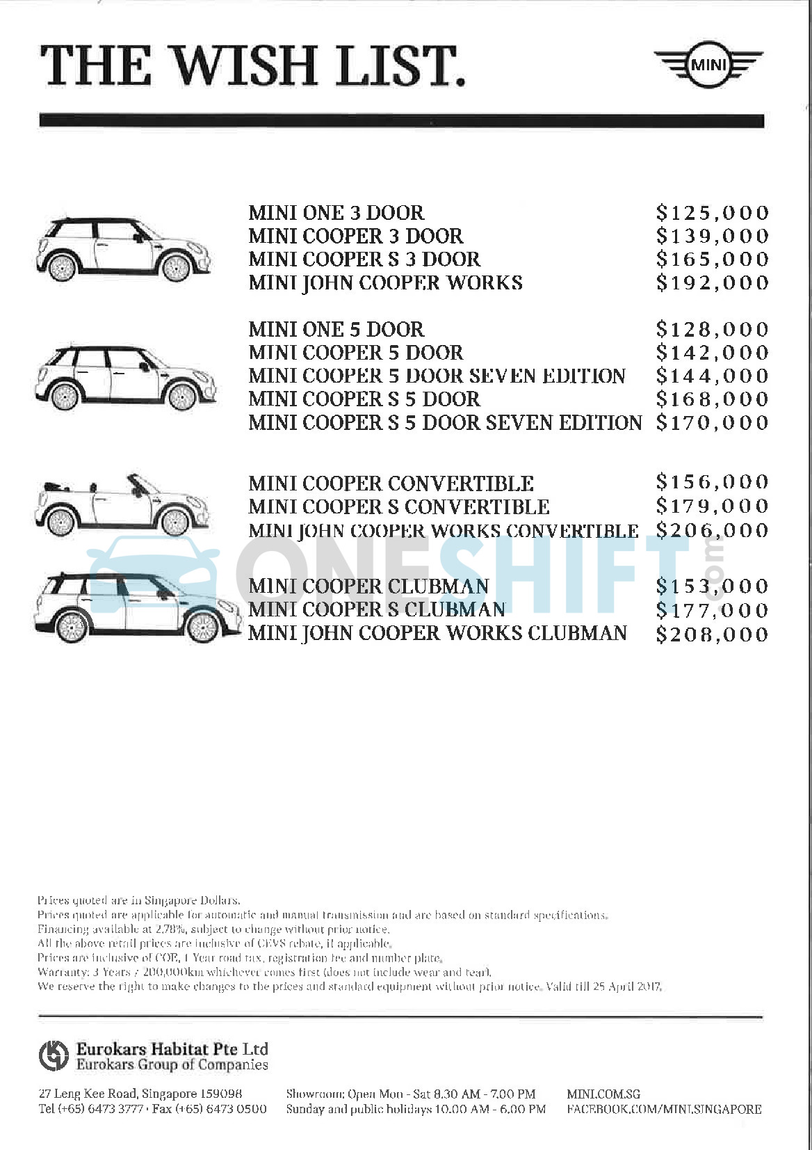 mini Price List 4-13-2017 Page 1