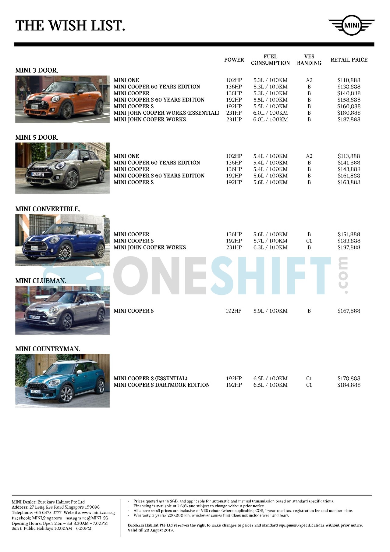 mini Price List 8-8-2019 Page 1