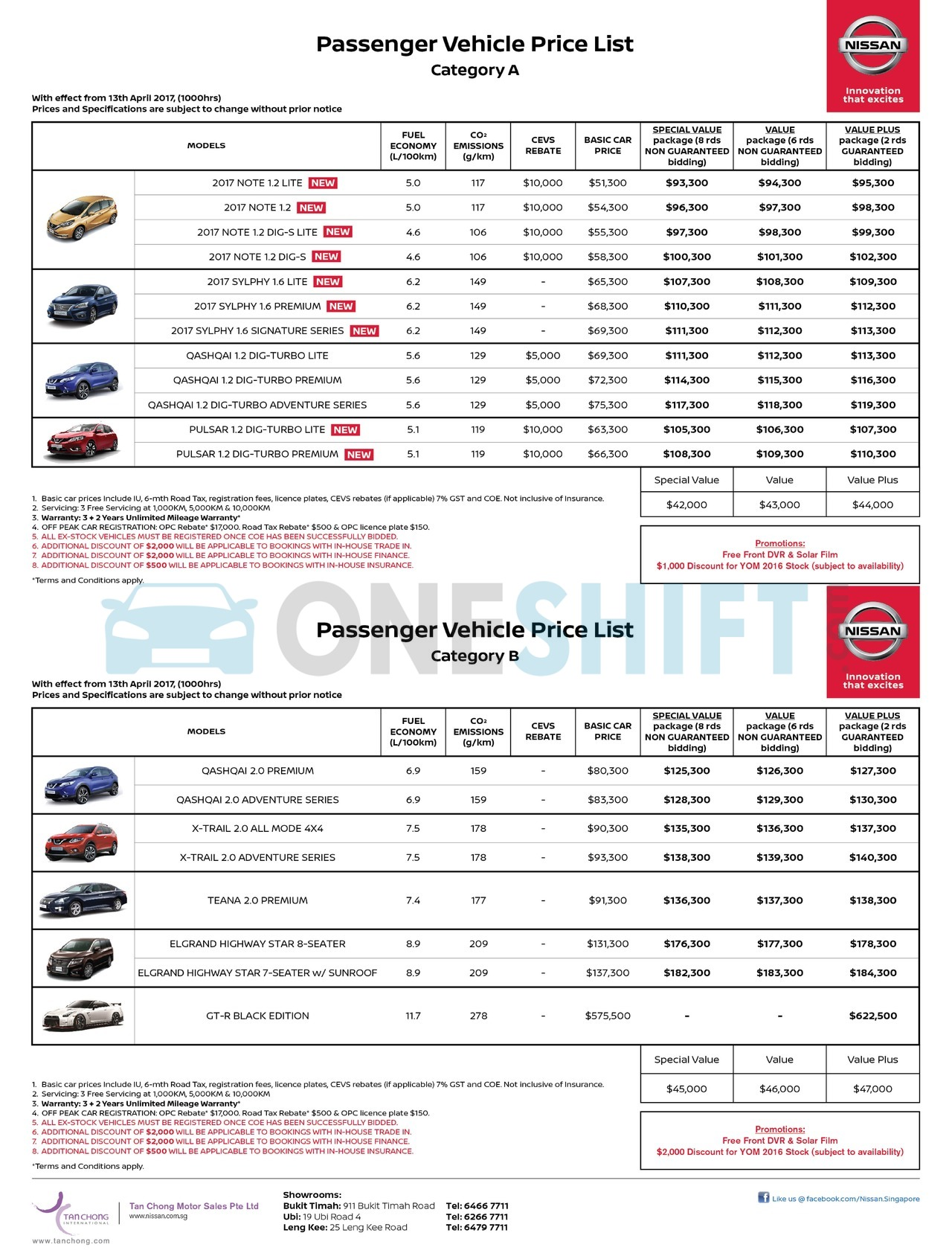 nissan Price List 4-13-2017 Page 1