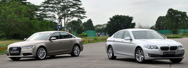 Audi A6 C7, BMW 5 Series Sedan 520i Review Singapore