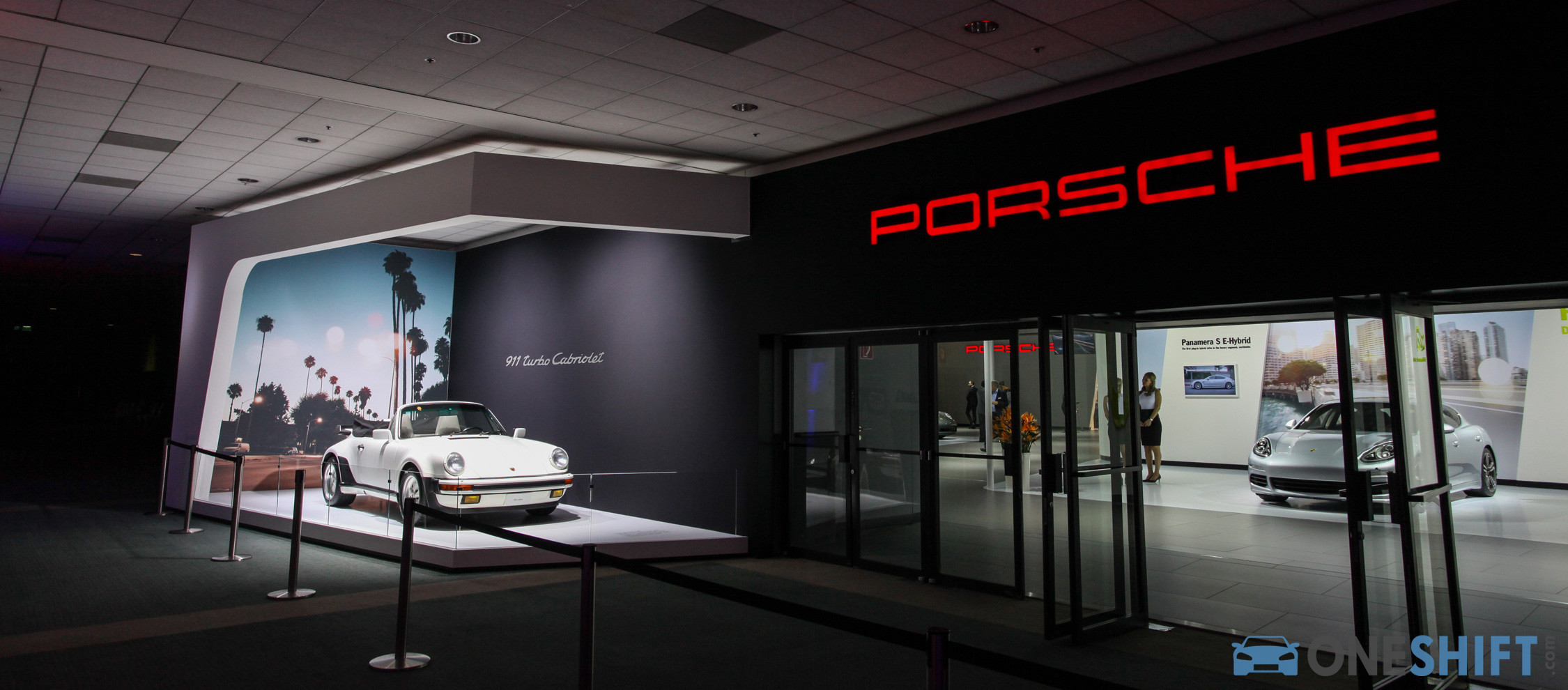 With the booming market in China, it's hard to forget that North America also represents a significant market for the German sports car maker. The grandeur of the Porsche booth is testament to that fact.