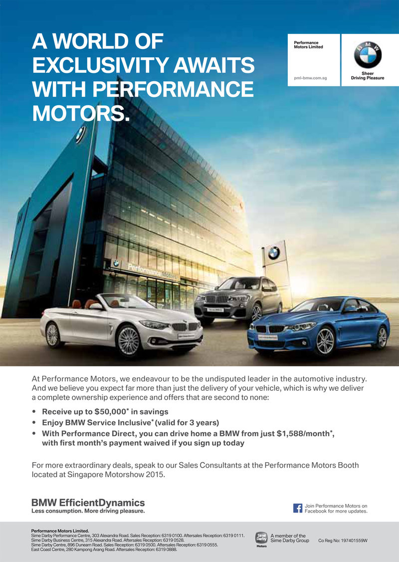 Singapore Motorshow 2015 Bmw Deals Promotions And Price List