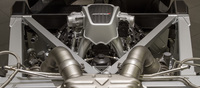 The heart and soul of the MP4-12C can be found in its 3.8-litre V8 M838T powerplant. Although it started life from Tom Walkinshaw Racing's developed version of the Nissan VRH35, little of the original engine remains besides the 93mm bore.   This same engine unit was redeveloped for use in the new McLaren P1 but optimized for cooling and durability when under higher loads.