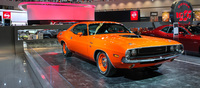 On display were several classic muscle cars like this 1970s Dodge Challenger.