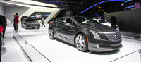 The Cadillac booth fronted by the ELR.