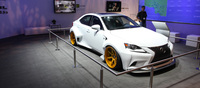 This ridiculously wide-bodied Lexus DevianArt IS350 was created by artist Robert Evans as part of a contest that was held in the US. The prize for his gorgeous work? A year spent with a Lexus IS-F!