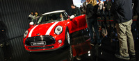 Another highlight of the show was the launch of the new Mini Cooper. Externally the new car retains much of the Mini's cutesy looks though the headlamps and tail lamps get a slight redesign. The biggest changes happen on the inside.