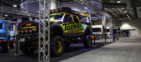 We met a real-life Tonka truck. Modified with every off-road kit imaginable, this truck stands at nearly 8 feet tall.