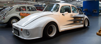 A crazy tuned example of a Beetle by European tuner Oettinger, this 1973 Beetle is the widest ever made. At 2220mm with massive wheel arches that hide racing tires. The car hides a Porsche 911 Carrera RS 2.7 powerplant in the back producing 255bhp.