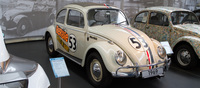 Herbie was probably the movie that shot the humble Beetle to international stardom. Shown here is one of the stunt cars that were used in the movie. This example here seems to be made up of a number parts from different eras which might due to the fact that stunt cars were hastily rebuilt from scrap parts between filming.