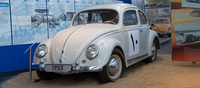 A very pristine example of a 1955 Beetle dressed up as a rally car but doesn't carry any evidence of  an actual rally career.