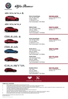 alfa-romeo Price List 8-22-2019 Page 1