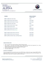 bmw-alpina Price List 11-10-2017 Page 1